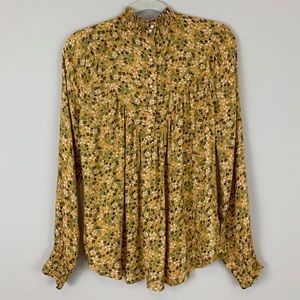William Rast Tops - NWT William Rast Floral High Neck Blouse Top